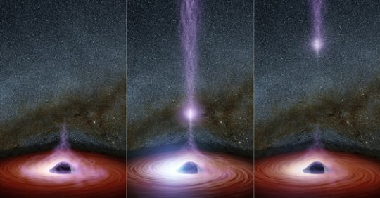 Something coming OUT of supermassive Black Hole Markarian 335?